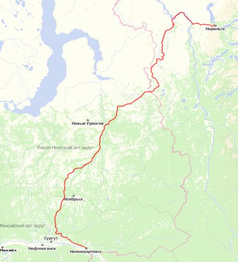 Нижневартовск-Норильск